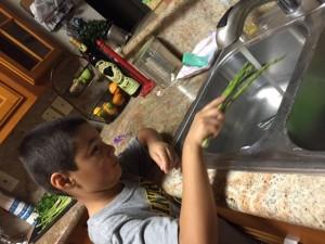 Andrew Washing Veges